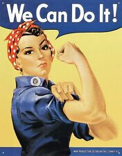 New We Can Do It! Rosie the Riveter Metal Tin Sign