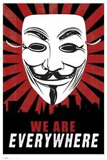 New We Are Everywhere V for Vendetta Poster