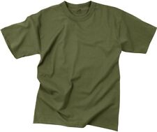 Kids Olive Drab Military Solid Short Sleeve T-Shirt