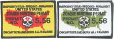 """Zombie Hunting Permit Morale Patch, 4.5"""" x 3"""""""