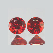 2.3mm Lot 2,10,50pc Round Diamond Cut Accent Stone Natural Red SAPPHIRE