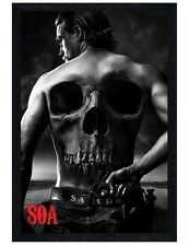 Sons of Anarchy Black Wooden Framed Jax SoA Maxi Poster 61x91.5cm