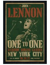 John Lennon Black Wooden Framed Madison Square Garden Poster 61x91.5cm