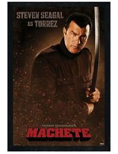 Machete Black Wooden Framed Steven Seagal is Torrez Maxi Poster 61x91.5cm