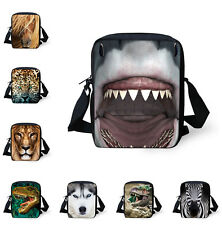 Children's School Bags for Boys Zoo Animals Schoolbag Purse Satchel Small Men