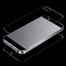 Premium Clear Tempered Glass Screen Protector Guard Front + Back for iPhone 5/5S