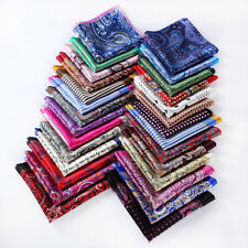 Handkerchief 100% Natural Silk Satin Mens Hanky Wedding Party Pocket Square #B1