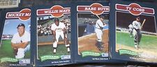 CHELSEA PUBLISHERS BABE RUTH WILLIE MAYS TY COBB  MICKEY MANTLE 4 BOOK LOT