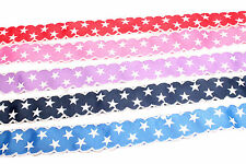 3m 25mm wide Trimmed Edge STARS Craft Christmas Gift Wrap Grosgrain Ribbon