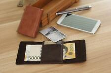 Men Leather Trifold ID Credit Card Clip Money Cash Clutch Wallet Checkbook DR04