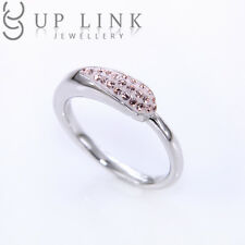 Champagne Swarovski Crystal 925 Sterling Silver Engagement Ring For Women Sz 5-7