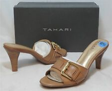 TAHARI Women's Bedford Mule Slides - Tan - Sz 6.5 Only - NIB - MSRP $79