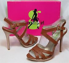 KENSIE GIRL Women's Steffie Sandal - Brown Sugar - Multi SZ NIB - MSRP $69