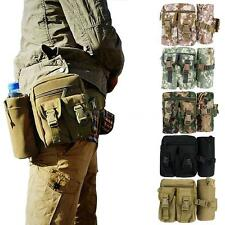 Military Waist Bag Fanny Pack Belt Bum Water Bottle Holder Camping Unisex FU19