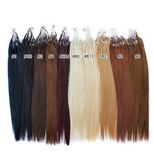 """18"""" 20"""" 200s 100s Micro Loop Micro Ring Remy Human Hair Extensions 50g&100g"""