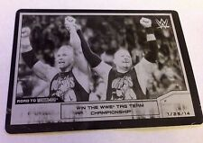 2014 WWE Topps RTW New Age Outlaws Billy Gunn Road Dogg Black Printing Plate 1/1