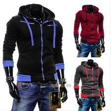 Stylish Men Slim Fit Warm Sweater Casual Zip Hooded Fleece Jacket Coat Hoodies#L