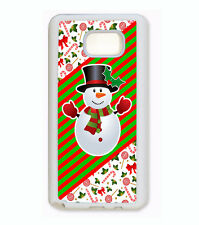 CUTE CHRISTMAS STOCKING SNOW MAN PHONE Case For Samsung Galaxy S6 S5 S4 NOTE 5 4