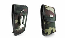Rugged Camo Heavy Duty Pouch Case Carry Cover Belt Clip Loop for Cell Phones