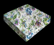 FFA-108 Dream Floral On Antique White Canvas Bench Seat Sofa Cushion Cover