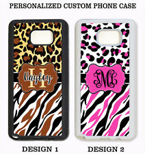 HOT PINK LEOPARD ZEBRA PERSONALIZED MONOGRAM Case For Samsung Galaxy S7 NOTE 7 5