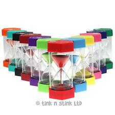 Set of 6 Large Sand Egg Timer SEN, ASD, ADHD 12 Time Durations to Choose From.