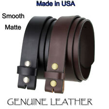 "GENUINE LEATHER BELT STRAP 1 1/2""  WIDE BLACK or BROWN NWT NEW MADE IN USA"