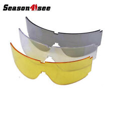 Tactical 1 Spare Sun Wind Dust Ski Protect Lens Glass Transparent/Black/Yellow