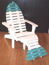 Poly Fish Adirondack Chair with Ottoman - Oversized - Commercial - Amish Made