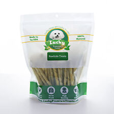 Chicken Flavored Rawhide Chews for Small Dogs by Lucky Premium Treats, USA Made