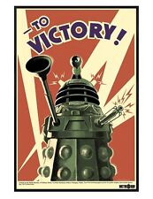 Doctor Who Gloss Black Framed Dalek Invasion To Victory! Dr Who Poster 61x91.5cm