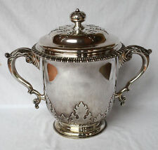 "MAGNIFICENT LARGE ENGLISH 1909 STERLING TROPHY ""THOMAS"""
