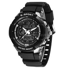 Men Waterproof Sport Watch Quartz Wrist Mens Analog Digital Military Watches