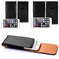 Vertical Leather Pouch Cover Holster Belt Clip Case with Belt Clip for Phones