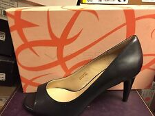 Via Spiga Womens Granada Black Leather PeepToe Pump