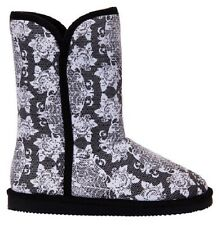 IRON FIST MIDNIGHT WIDOW FLORAL FLOWER BLACK WHITE FUGG BOOTS SHOES SIZE 7-10
