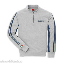 Ducati 80´s Sweater Sweatshirt with Zip Retro 2014 grey NEW
