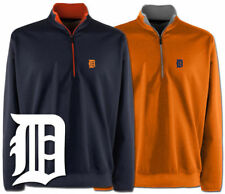 Antigua Detroit Tigers Leader 1/4 Zip Pullover Mens NWT 2 Colors