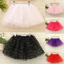 New Baby Girls Skirt Stars Sequins Party Princess Dress Dance Ballet Tutu Skirts