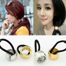 Womans Elastic Rope Hairband Cuff Wrap Ponytail Holder Hair Band Adjustable