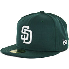 New Era 59Fifty San Diego Padres Fitted Hat (Dark Green/White) Men's Wool Cap