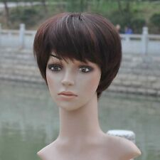 2016 Women lady Short full wig wigs hairpiece 100% Real natural human hair wig