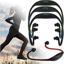 Sports Stereo 2 CH Handsfree Headset Headphones TF Card FM MP3 Music Player V6Z1