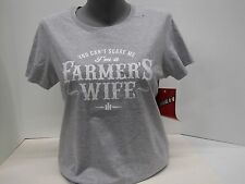 "Case IH ""You Can't Scare Me I'm A Farmers Wife"" Gray Women's T-Shirt"