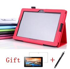 """Folding PU Leather Case Cover Stand For Lenovo A10-70 A7600 10.1""""Tablet+Film+Pen"""