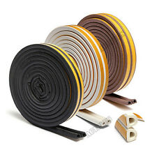 5M E/D/P-type Self Adhesive Window Draught Rubber Foam Roll Excluder Seal Strip