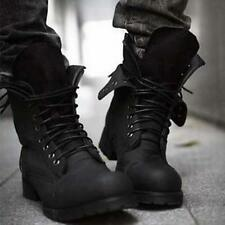 Men's Winter Fashionable Retro Military Combat Boots Short Black Shoes Boots 559