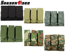 1X Tactical Molle 3 Pcs 5.56/.223 Mag Stack Magazine Pouch Holder Bag