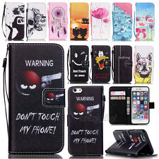 Flip Leather Wallet w/ Strap Card Slots Case Cover For Apple iPhone/iPod Touch