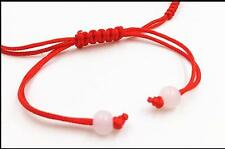 Red String/Rope/Cord Bracelet Chinese Braided Lucky 14K Gold Plated Adjustable